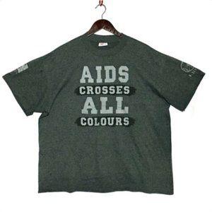 AIDS Awareness T Shirt Single Stitch 50/50 Vintage